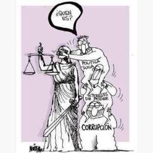 caricatura de tapar la justicia