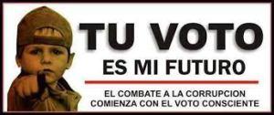 tu voto es mi futuro
