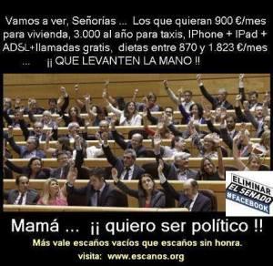 cuantos politicos en España