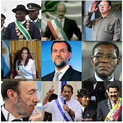 Politicos de países con gran nivel de corrupción