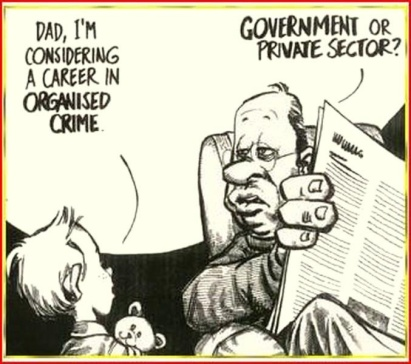 government or private sector