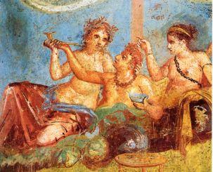 Pompeii_-_Casa_dei_Casti_Amanti_-_Banquet